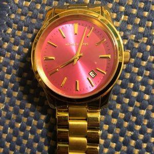 Michael Kors Pink & Gold Watch